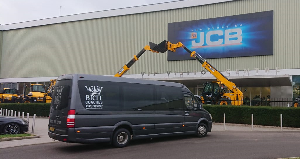Mini Bus Hire Slide JCB